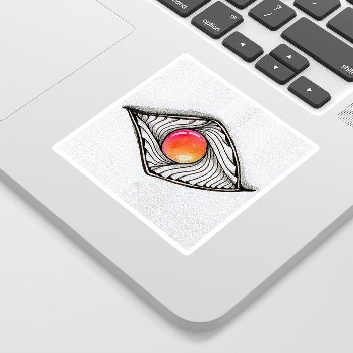 Doodled Gem Sparkle Eye Sticker