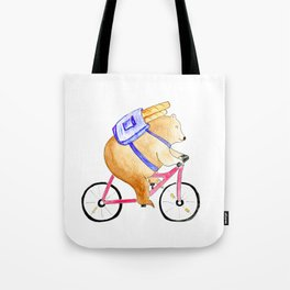 Bringing home the bread Tote Bag