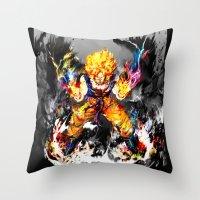 goku Throw Pillows featuring Goku by ururuty
