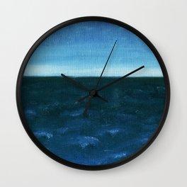 Night sea Wall Clock