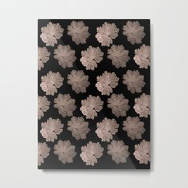 Autumn Leaves Pattern #7 #RoseGold #Black #foliage #decor #art #society6 Metal Print