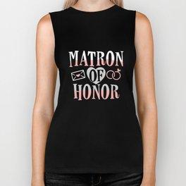 Matron Of Honor Bridesmaid Maid Of Honor Biker Tank