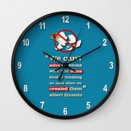 Einstein on Problem Solving Wall Clock