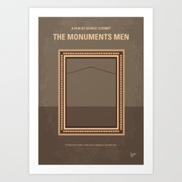 No845 My THE MONUMENTS MEN minimal movie poster Art Print