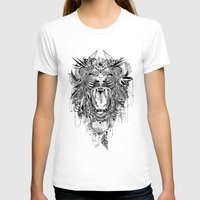 stickers T-shirts featuring Lion by Feline Zegers