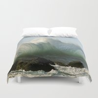 plain Duvet Covers featuring Just Plain Luck ! by MadDog