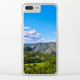 Clouds Floating Over Donner Pass Clear iPhone Case