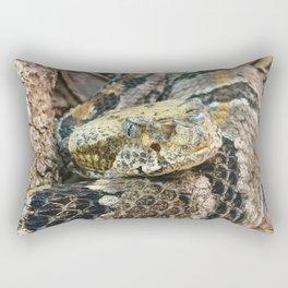 Timber Rattlesnake Close Up Rectangular Pillow