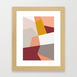 Abstract Geometric 27 Red Framed Art Print