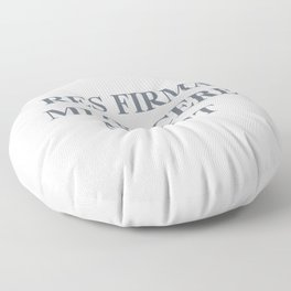 latim quote, a firm resolve does not know how to weaken, res firma mitescere nescit Floor Pillow
