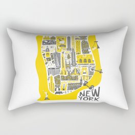Manhattan New York Map Rectangular Pillow