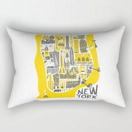 Manhattan New York Map Rectangular Pillow