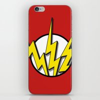 flash iPhone & iPod Skins featuring Flash by Msimioni