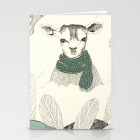 into the wild Stationery Cards featuring wild by maria elina