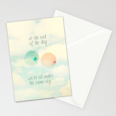 at the end of the day we're all under the same sky Stationery Cards