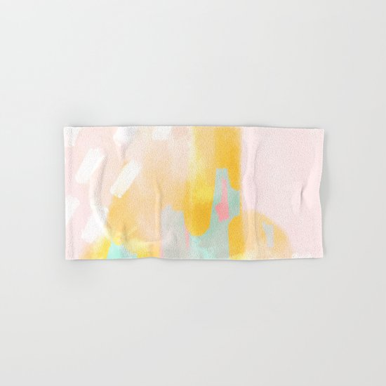 Soft Pastel summer abstract Hand & Bath Towel