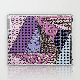 simple purple doodles Laptop & iPad Skin
