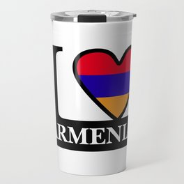 I Love Aremnia #society6 #decor #buyart #artprint Travel Mug