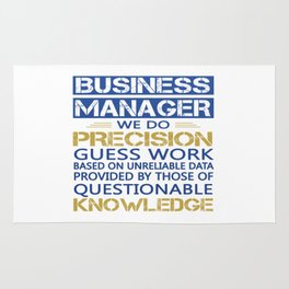 BUSINESS MANAGER Rug