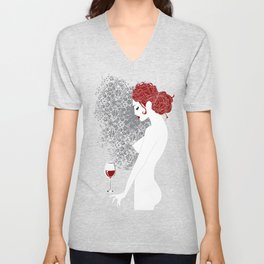 Redhead in anticipation Unisex V-Neck