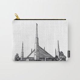 Dallas Texas LDS Temple Ink Drawing Carry-All Pouch