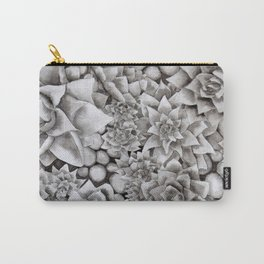 Watercolour pebbles and succulents Carry-All Pouch