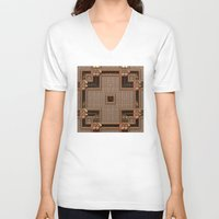 copper V-neck T-shirts featuring Copper Cross by Lyle Hatch