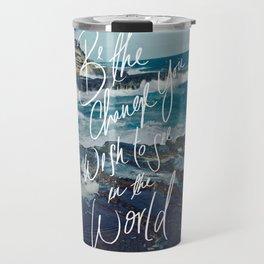 Be the Change (Gandhi) Travel Mug