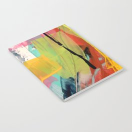 Hopeful[2] - a bright mixed media abstract piece Notebook