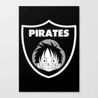 pirates Canvas Prints featuring Pirates  by Buby87