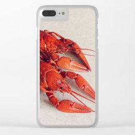 Boiled Crayfish Clear iPhone Case