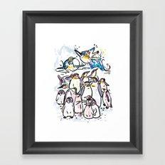 Penguin family Framed Art Print