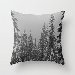 Snow Trees Throw Pillow