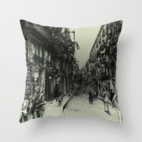 barcelona Throw Pillows featuring Barcelona by Lamb