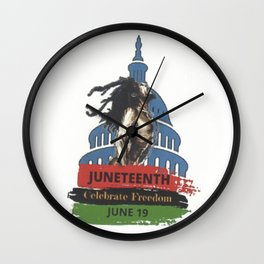 June Tenth Day Wall Clock