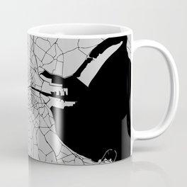 Dublin Street Map Grey Gray Coffee Mug