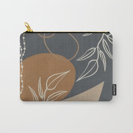 Neutral Meeting Point 1 in Gray-Blue and Tan Carry-All Pouch