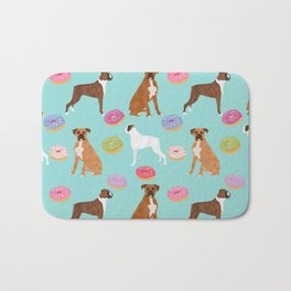 Boxer donuts cute gifts for pure breed dog lover Boxers dog owners Bath Mat