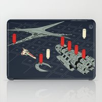 battlestar galactica iPad Cases featuring You Sunk My Battlestar by Caddywompus