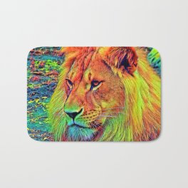 AnimalColor_Lion_004_by_JAMColors Bath Mat