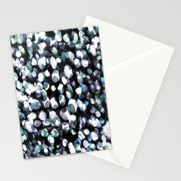 White and blue painted dots pattern Stationery Cards