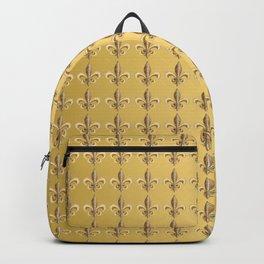 Fleur de Lis Pattern in Gold on Gold  Backpack