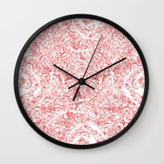 Red butterflies Wall Clock