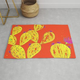 Orange cacti garden Rug