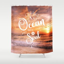 The Voice of the Ocean Shower Curtain