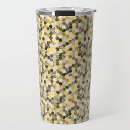 Bitmap in beige tones. Travel Mug