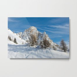 Alpine Mountain, Les Arcs Resort Metal Print