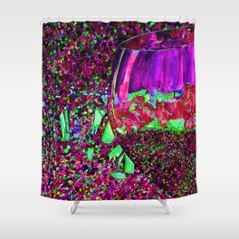 Abstract Wine Glass in Pinks Shower Curtain