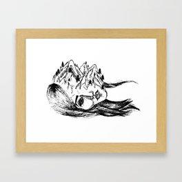headscape Framed Art Print