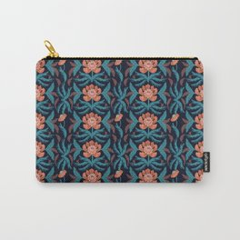 Tangerine Damask Carry-All Pouch